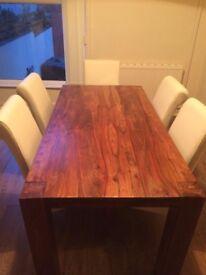 Hardwood Dining Table Set