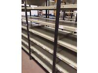 JOB LOT 50 BAYS heavy duty industrial shelving 2.1m high ( storage , pallet racking )