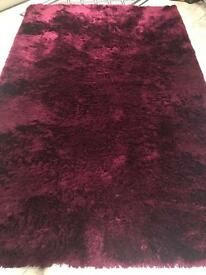 Stunning large plum Rug for sale 150x240cm