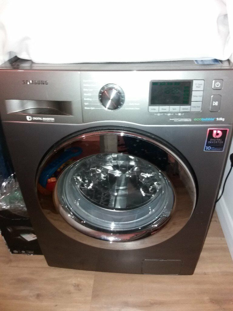 SAMSUNG WASHING MACHINE- SILVER - ECO BUBBLE TECHONOLOGY - 9KG