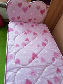 Pink girls bed