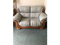 2 Seater Leather Sofa and 2 Reclining Arm Chairs