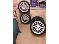 Two sets of Alloy Wheels Jag-Ford-Volvo