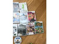 Wii console with games skylanders Zumba Mario