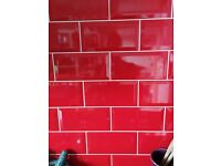 Red Metro tiles 2 square metres (price negotiable)