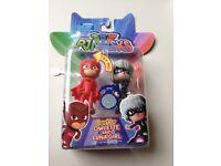 Package PJ Masks 3 Light Up sets Gekko,Night Ninja,Owlette, Luna Girl Catboy and Romeo
