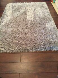 Silver jewel shaggy rug Dunelm