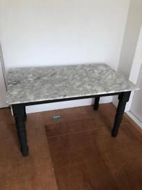 Solid Marble Kitchen Dining Table