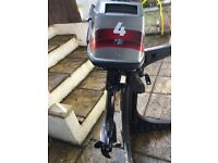 Mariner 4HP outboard engine inc stand