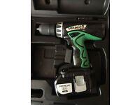 Hitachi 18 volt 2 speed cordless hammer drill