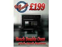 Built in Double Oven Bosch black