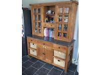 Free standing solid wood/granite kitchen units