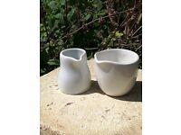 Milk and cream jugs