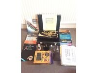 Yamaha Cornet (2330ii) + 4 mutes (inc. silent) + 100s of music/books + metronome + 2 mouthpieces