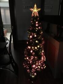 5ft fibre optic xmas tree