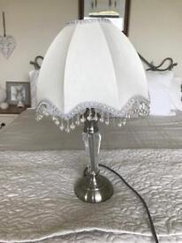 ART DECO STYLE BEADED TABLE LAMP