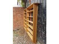 Two solid pine book shelves