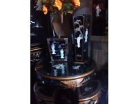 Oriental round mother of pearl coffeetable forsale
