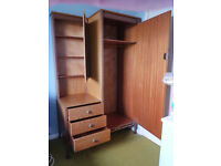 Small wardrobe with drawers