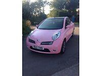 Pink Nissan micra sport 1.6 cc