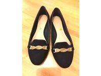 Carvela navy suedes ballerina shoes size 5
