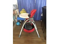 Red Multiposition Highchair with Storage