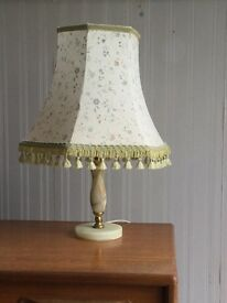 """Small """" Onyx"""" Table Lamp in working condition"""