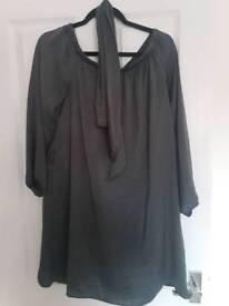 Newlook dress grey size 10