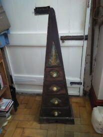 Aztec very unusual triangular drawers.