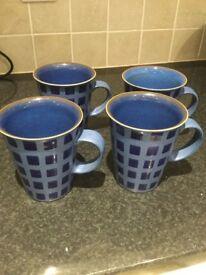 4 Large Denby Reflex Mugs