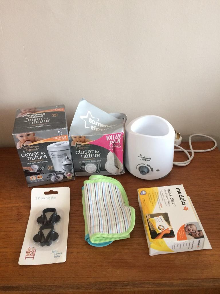 Pack of assorted baby products, tommee tippee