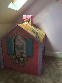 Great condition rose petal cottage play house