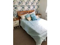 Pine Double Bed & Drawers