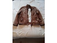 Timberland Brown Leather Jacket Size M Used. Good condition.