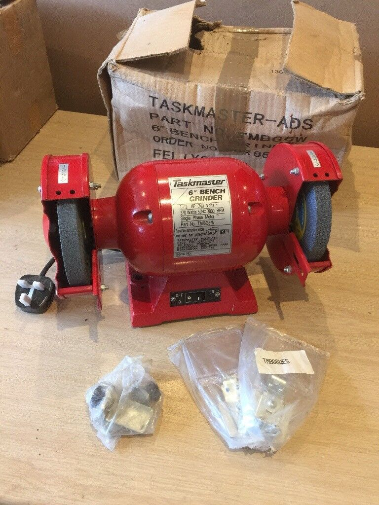 Marvelous Taskmaster 370W Bench Grinder 6 Twin Grindstone Grinding Stone Workshop Garage In Lewisham London Gumtree Caraccident5 Cool Chair Designs And Ideas Caraccident5Info