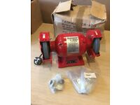 "Taskmaster 370W Bench Grinder 6"" Twin Grindstone Grinding Stone Workshop Garage"