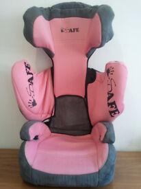 CAR SEAT, SAFE,SUPER-CRUISER, HI-LINER,SAMI-UNIVERSAL,GROUP 2-3, 15kg-36kg, 9 MONTHS TO 12 YEARS OLD