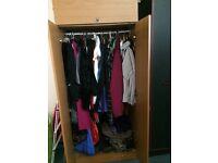 Teak colour wardrobe