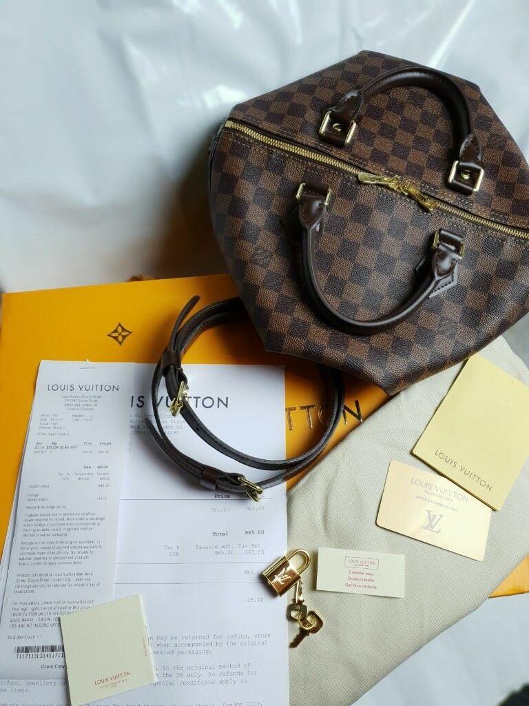 59b4e44c97eb Louis vuitton speedy 30 lv monogram brown designer womens handbag with  paperwork   accessories