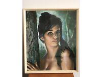 Vintage Retro original Framed J H Lynch Print 'Tina'