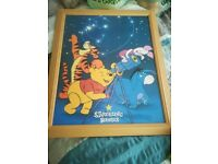 Joblot of winnie the pooh pictures and canvas