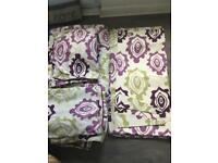Dunelm curtains and bedding set