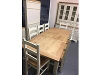 Oak top Farmhouse dining table