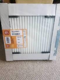 600x600 white radiator with valves (double)