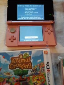 Ninetendo 3ds with Animal Crossing Game