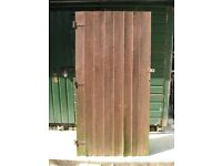 Wooden Garden Shed Door