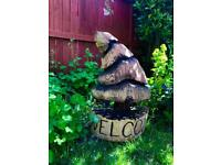 Welcome tree garden sculpture chainsaw carving