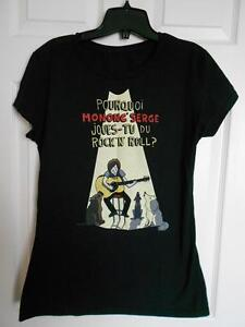 Tshirt '' Pourquoi Mononc Serge joues-tu du rock and roll '' M-L