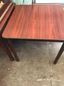 REDUCED FROM £20 Brown Veneer Dining Table