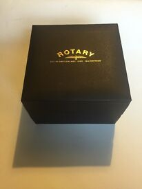 Mens gold rotary watch in box like new